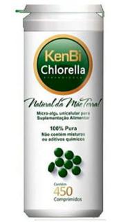 Chlorella Kenbi 450 Comprimidos - 100% Pura - Detox