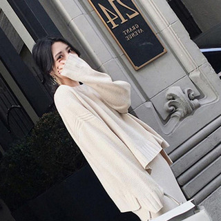 Otoño Suéter De Mujer Abrigo De Manga Larga Suelto O Cuello