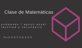 Clases Particulares De Matematicas Secundaria / Calculo