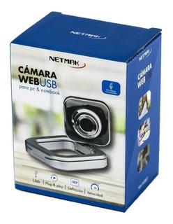 Camara Web Microfono Netmak 480p - Aj Hogar