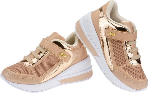 Tenis Feminino Infantil Menina Botinha Sneaker Calce Fácil