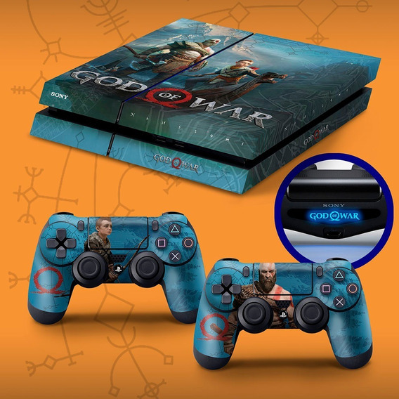 Skin Playstation 4 Fat Ps4 Fat Adesivo God Of War