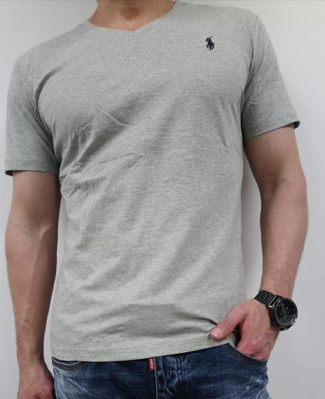 Camiseta Básica Hombre Polo Ralph Lauren Cuello V Sliim Fit