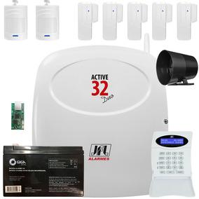 Kit Alarme Active 32 Duo Jfl Sensor Sl 220 E 520 Duo Sem Fio