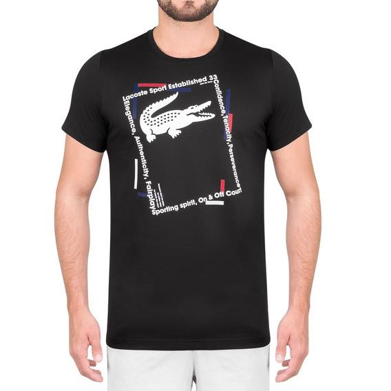 Camiseta Lacoste Regular Fit Th3361 Preta