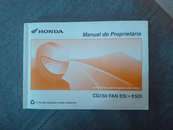 Manual Honda Cg 150 Fan Esi/ Esdi Usado