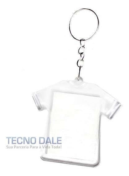 Chaveiro Acrílico Camisa Lembrancinha P/ Foto 3x4 - 50 Un