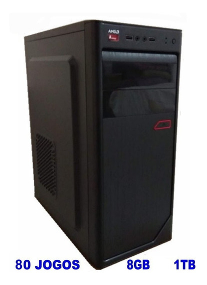 Cpu Gamer Amd A6 7480 3.8 Ghz Hd 1tb Ram 8gb Gravador Dvd