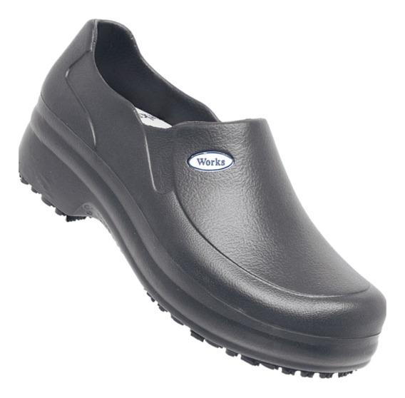 Sapato Cozinha Industrial Com Ca Soft Leve