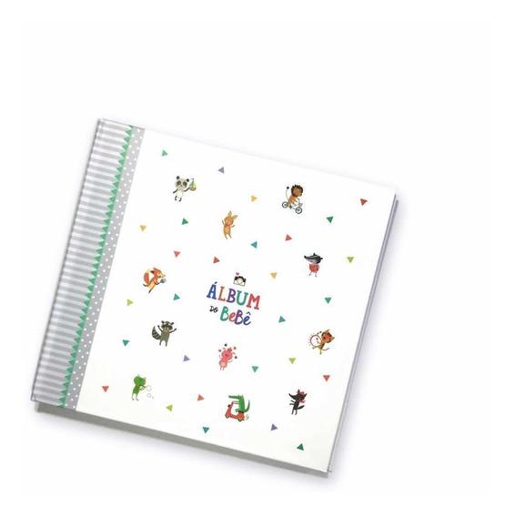 Álbum Diário Do Bebê Presente Recordação Bichinhos Cinza