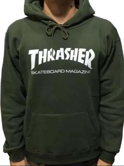 Thrasher Buzo Canguro Capucha Unisex Skate Magazine Nuevo