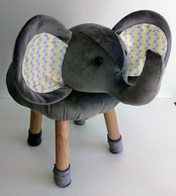 Cadeirinha Cadeira Elefante Bichos Banco Infantil Conforto