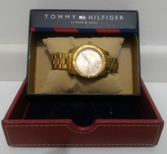 Relogio Pulso Feminino Dourado Tommy Hilfinger - Original