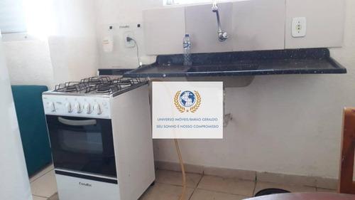 Kitnet Com 1 Dormitório Para Alugar, 22 M² Por R$ 880,00/mês - Cidade Universitária - Campinas/sp - Kn0015