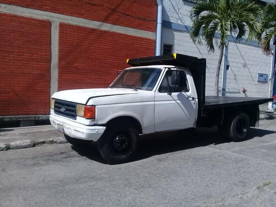 Camion F-350 Ford Blanco Plataforma Año 87