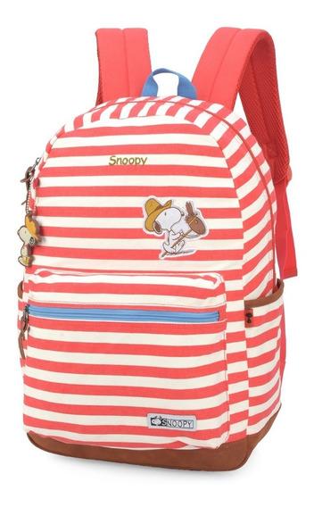 Mochila Escolar Feminina Snoopy Notebook Mj48510
