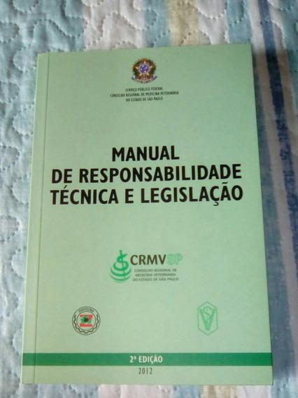 Manual Responsabilidade Tecnica Legislacao Crmv Frete Gratis