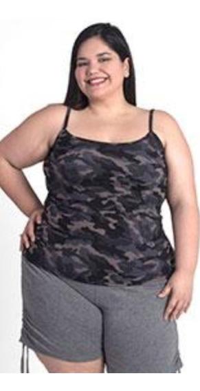 Musculosa Tiritas Estampadas Talles Grande