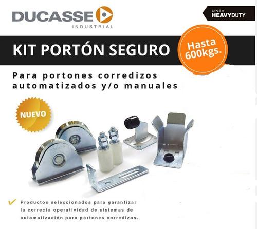 Kit Portón Seguro Ducasse 600 Kg Corredizo Automatizado