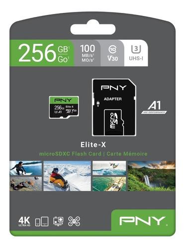 Tarjeta Micro Sd De 256gb Pny U3 V30 Clase 10
