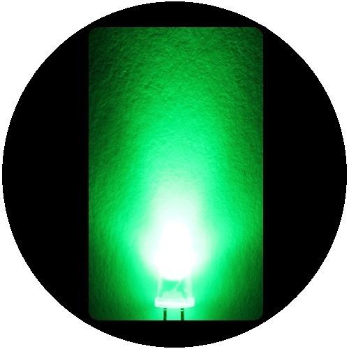 Imagen 1 de 6 de 300 Leds Verde Difuso De 5mm