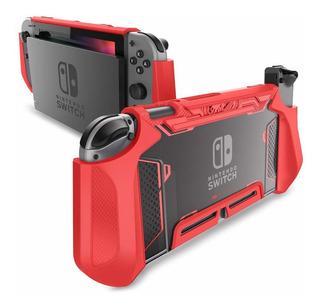 Funda Para Consola Nintendo Switch Y Mando Joy-con, Rojo