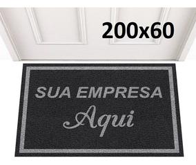 Tapete Capacho 200x60 Personalizado Com Logo + Frete