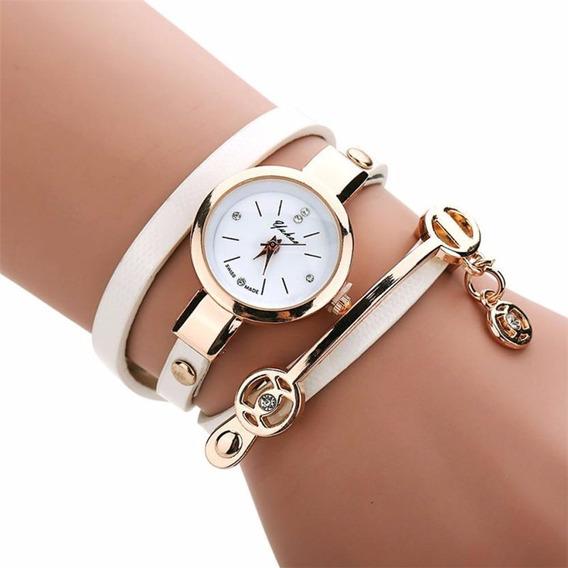 Kit 6 Relógios Feminino Pulseira Em Couro Retro Vintage