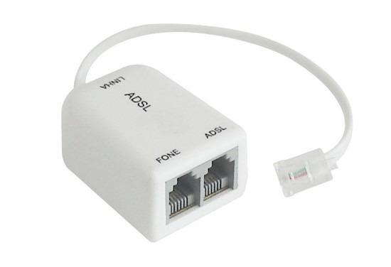 Micro Filtro Adsl Duplo P/ Modem E Telefone