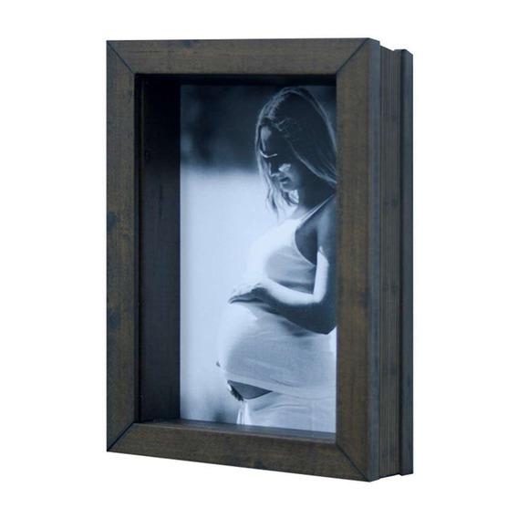 Porta Retrato De Mesa Para Foto 15x21 Cm Imbuia