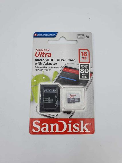 Cartão De Memória Sandisk Ultra 16gb Original