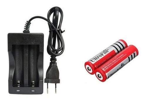 Imagen 1 de 6 de Cargador Dual Recargable 3.7v Ultrafire 18650 + 2 Baterias