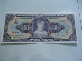 01 - Cédula De 50 Cruzeiros De 1955 C091 Sob/fe Linda