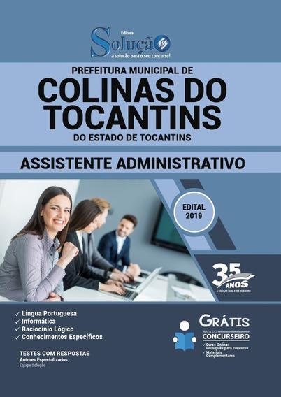 Apostila Prefeitura De Colinas Do Tocantins-to 2019 Assisten