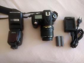 Nikon D90 + Lente + Flash Externo + 2 Baterias