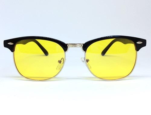 Óculos Noturno Estilo Clássico Luxuoso - Preto