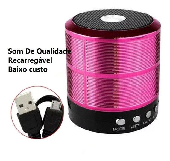 Caixa Caixinha Som Portátil Bluetooth Mp3 Fm Sd Usb Barato