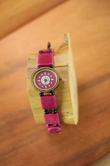 Relógio De Pulso Artesanal Colombiano Jarina - Btq