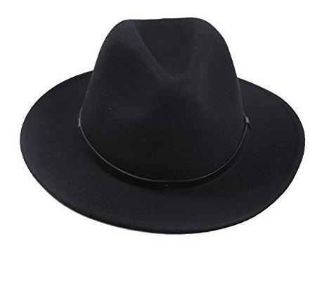 Sedancasesa Fedora Hat Sombreros De Fieltro De Lana Con C...