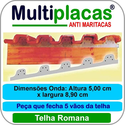Placa Anti Maritacas Romana 1 Mt Kit 20 Peça(s)