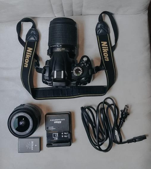 Câmera Nikon D5000 + Lente Nikon 18-200mm