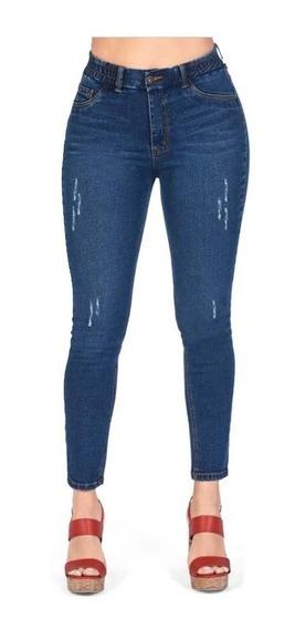 Dama Jeans De Mezclilla