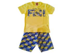 Roupa De Criança Camisa Bermuda Infantil Pronta Entrega Kyly
