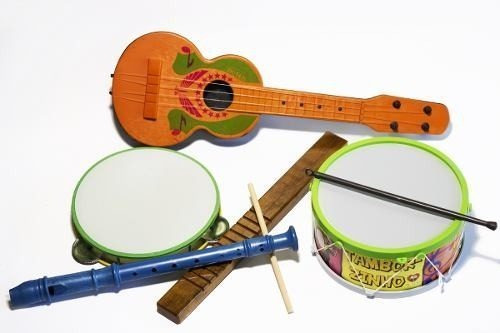 Kit Musical Infantil Educativo Musicalidade C/5 Instrumentos