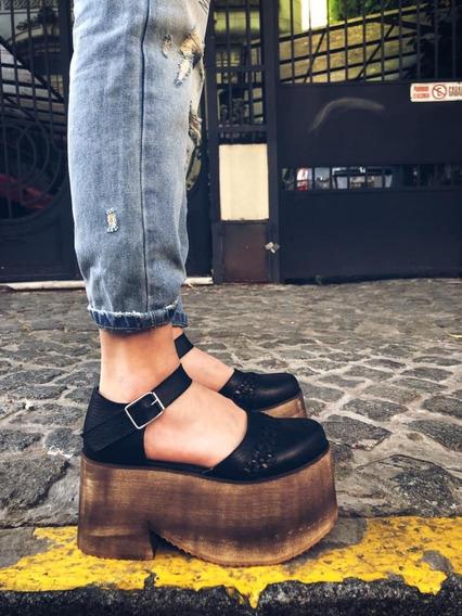 Guillerminas Zapatos Con Plataforma Tira En Tobillo