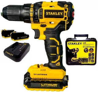Taladro Atornillador Stanley 20v Brushless +2bat C U O T A S