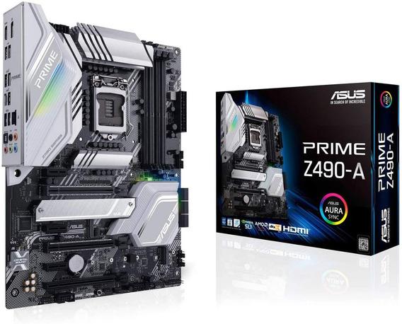 Motherboard Asus Prime Z490-a S-1200 Intel Nvidia Aura Sync