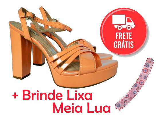 Sandália Salto Alto Plataforma Anabela Beira Rio + Brinde