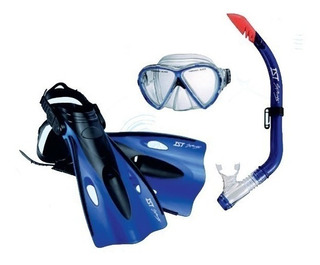Kit De Buceo Junior Ist Silitex Mascara Aletas Snorkel