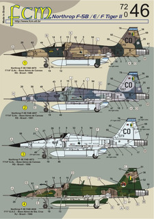 Decalque Fcm Avião F-5 Fab 1/72 Decal Plastimodelismo